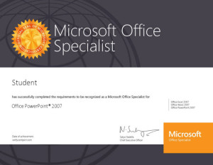 Microsoft Powerpoint Certificate