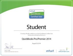 QuickBooks Pro Certificate